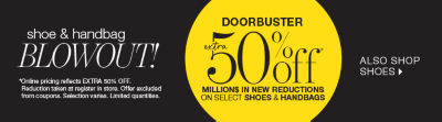 shop shoe blowout doorbusters