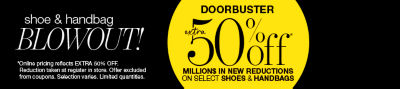Shop Shoe & Handbag Blowout