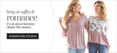 Shop Ruffles and Romance trend in Signature Studio brand