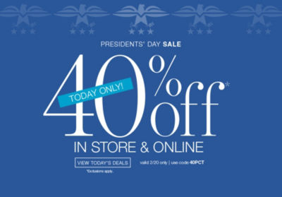 Shop 40off Presidents Day Sale
