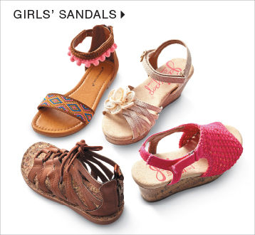 shop girls sandals