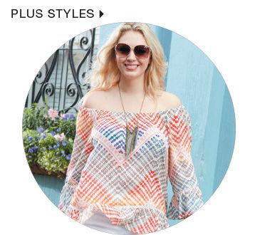 Shop plus size styles for women