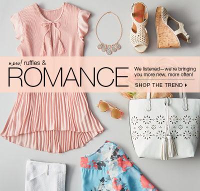 shop ruffles & romance trend