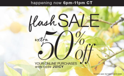 Extra 50% off* with code JUICY