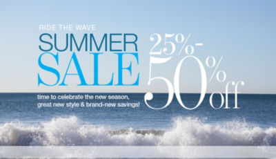 Shop 25-50off Summer Sale