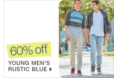 Shop 60% off Young Mens Rustic Blue