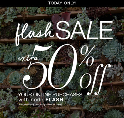 extra 50% off with code FLASH