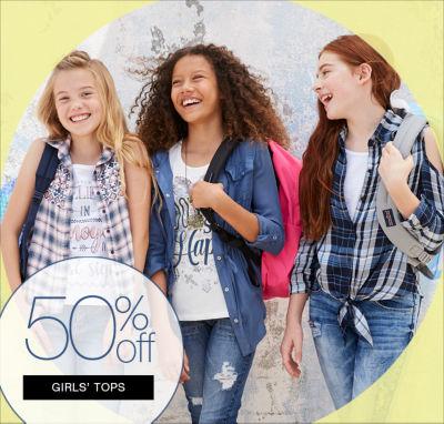 50% OFF Girls Tops