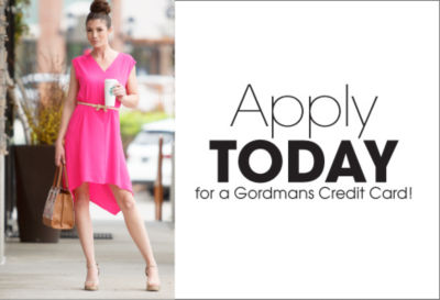 Apply today for a Gordmans Credit Card