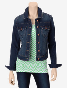 Fire High-Back Denim Jacket – Juniors