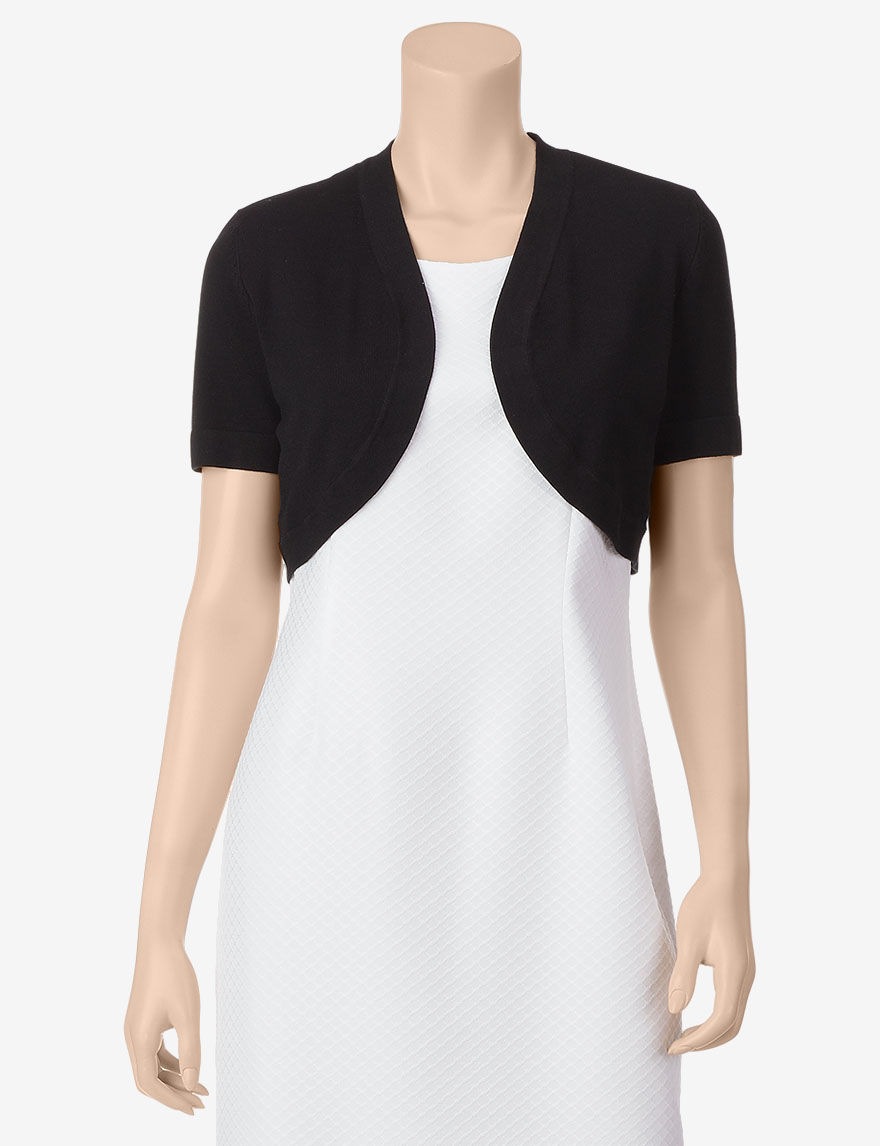 Lennie Black Shrugs Sweaters Shift Dresses