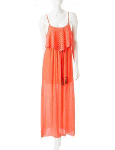 Trixxi Crochet Popover Gauze Maxi Dress
