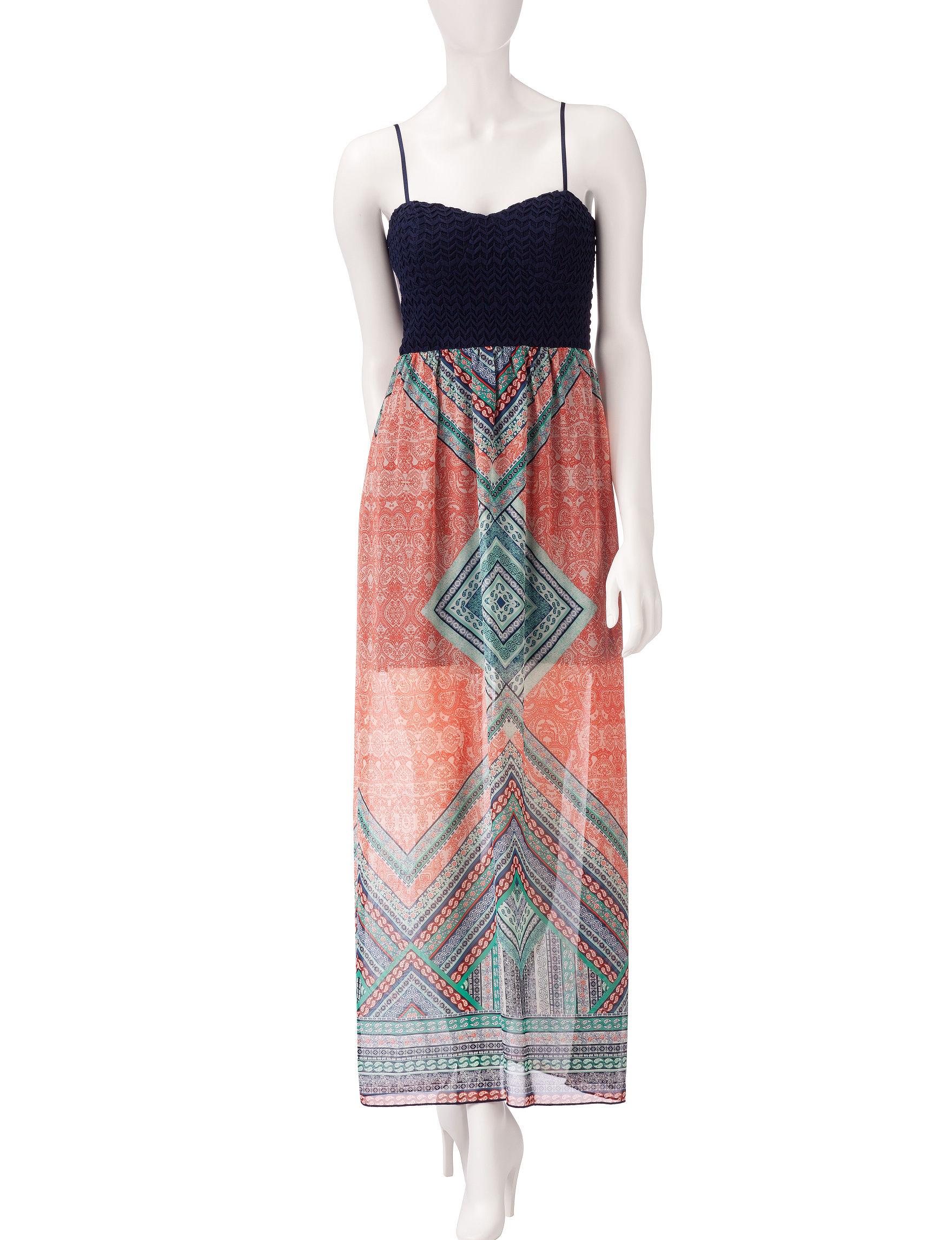 Trixxi Blue Sheath Dresses