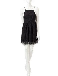 Trixxi Black Eyelash Lace Dress