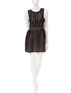 Trixxi Black Mesh Overlay Dress