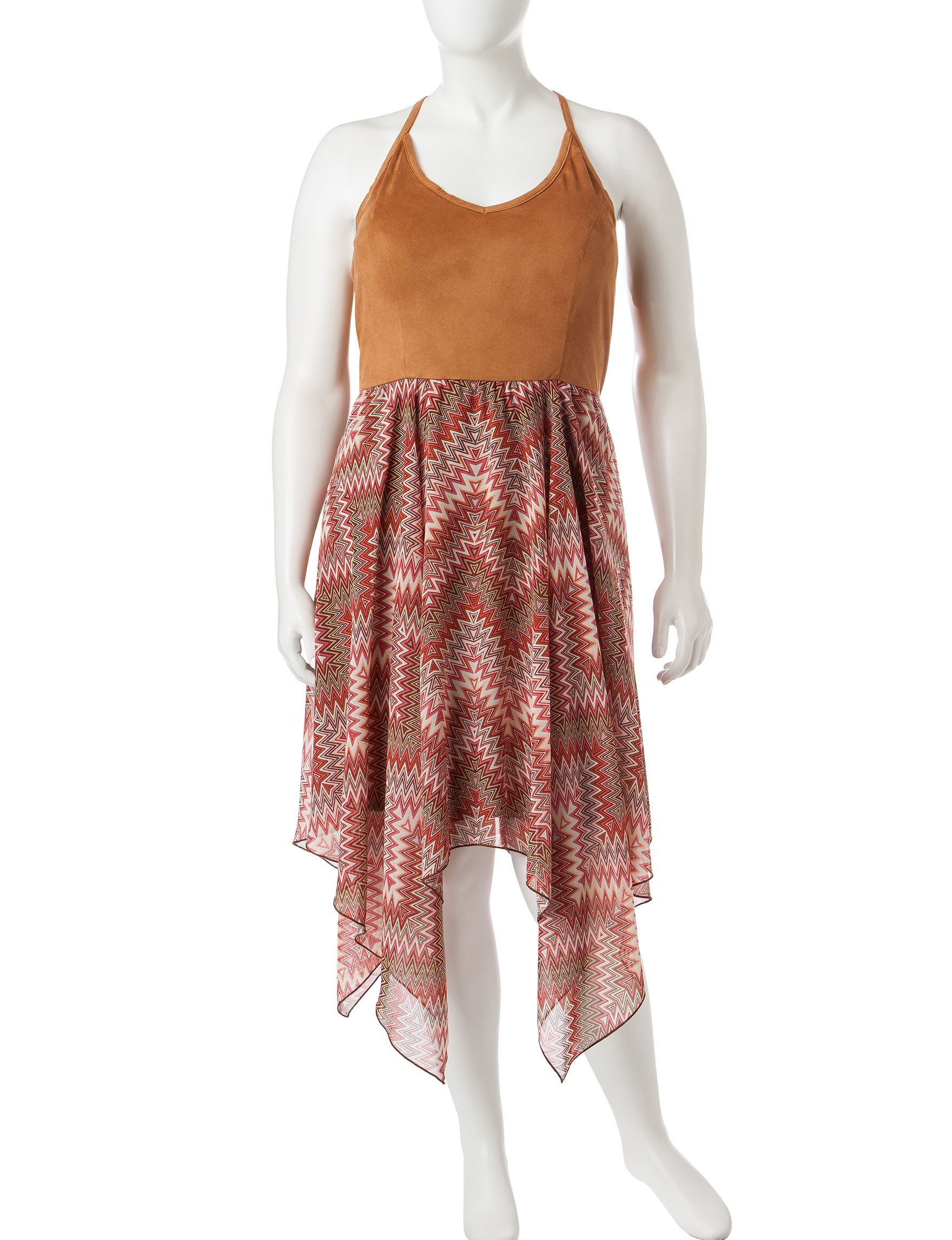 Almost Famous Brown Everyday & Casual Sundresses
