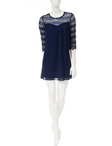 Speechless Blue Cocktail & Party Shift Dresses