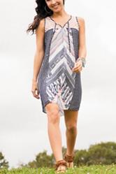 My Michelle Multicolor Lace Shift Dress