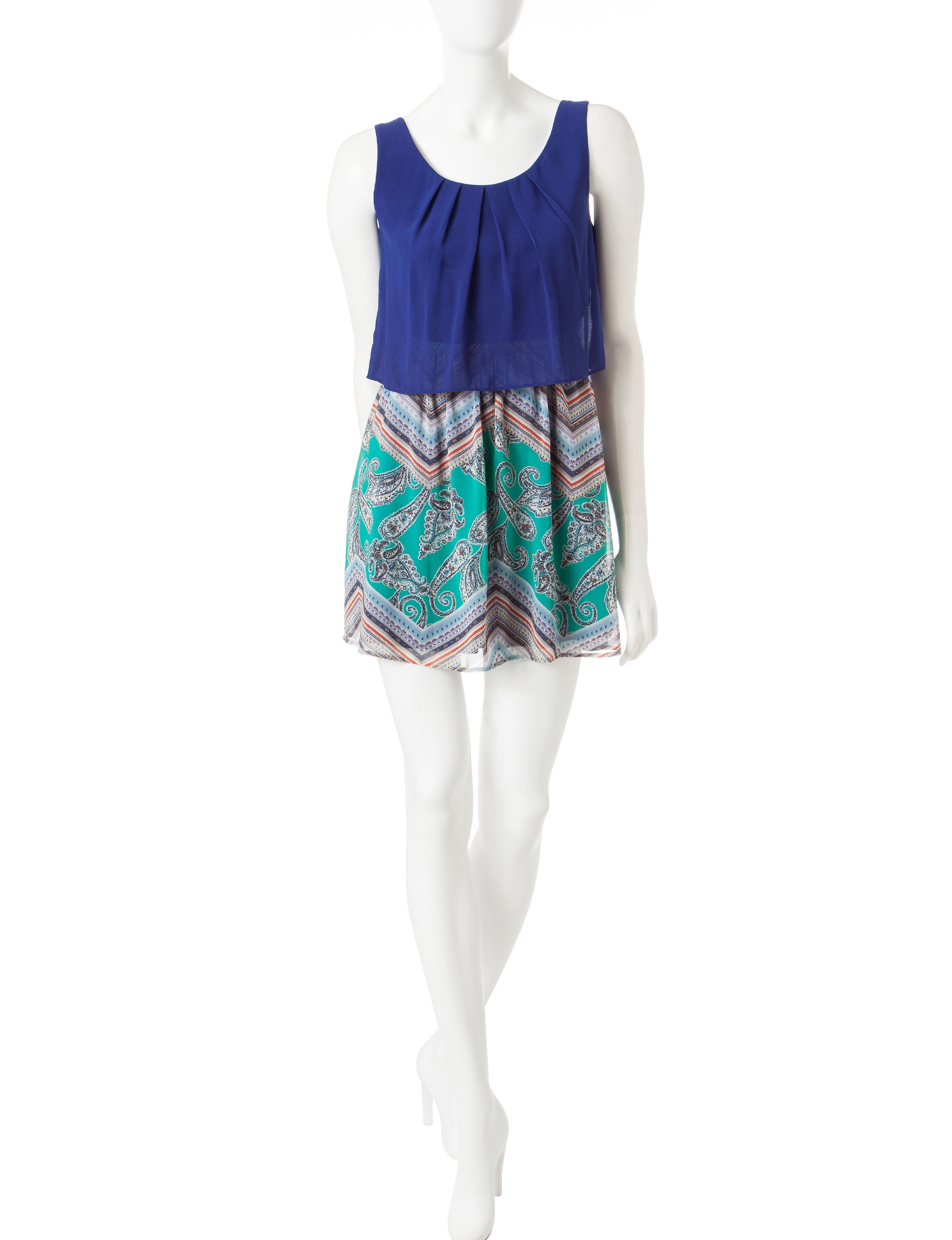 Emerald Sundae Blue Everyday & Casual Sundresses
