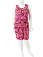 Lennie Plus-size Floral Print A-line Dress