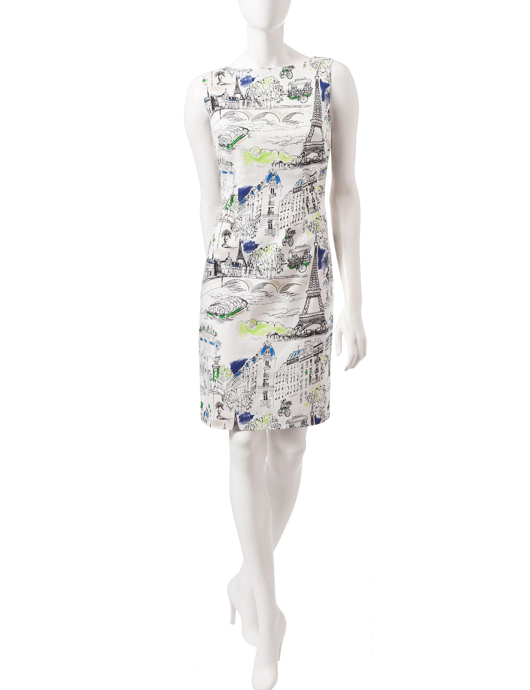 Chetta B White Everyday & Casual Shift Dresses