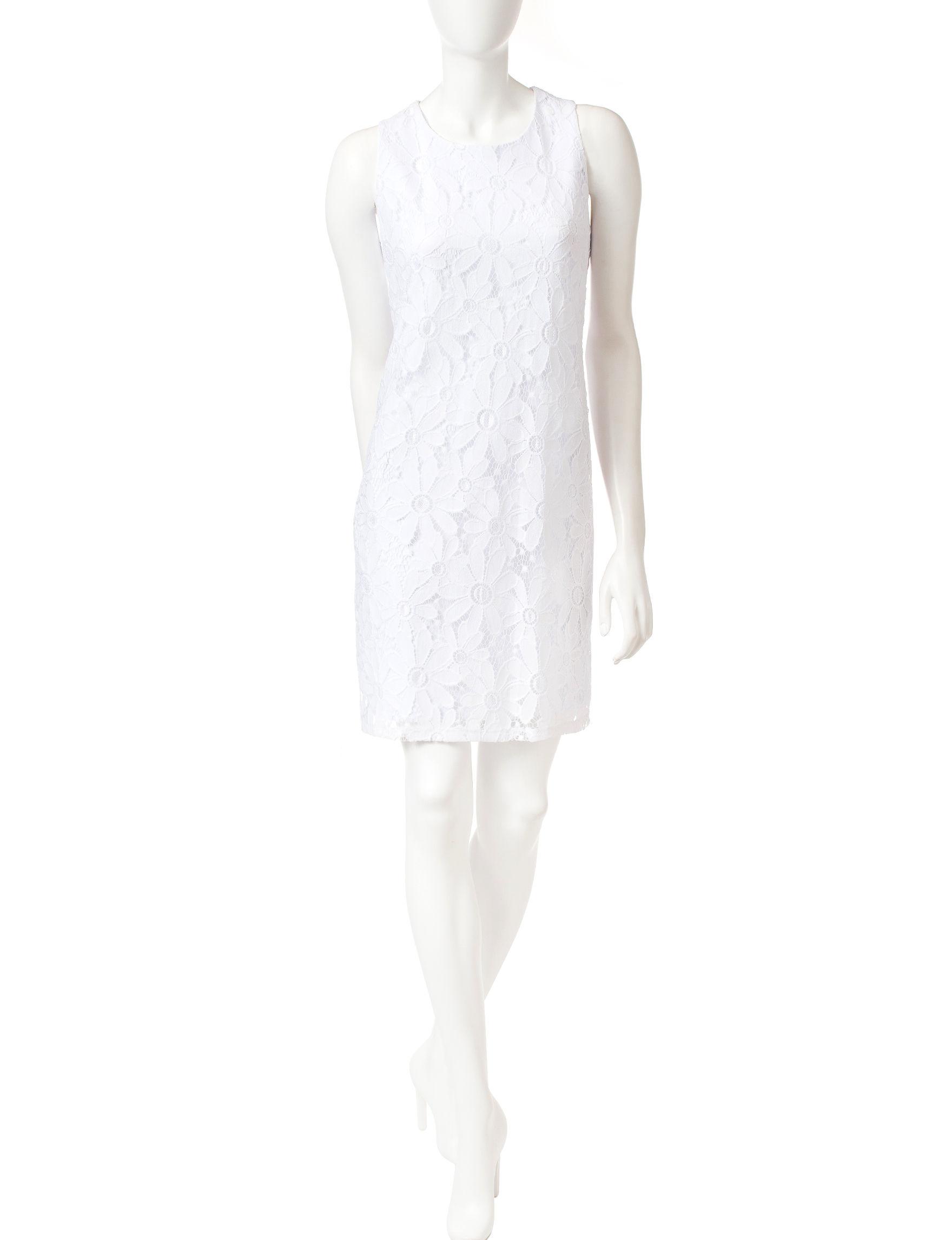 Ronni Nicole White Everyday & Casual Sheath Dresses
