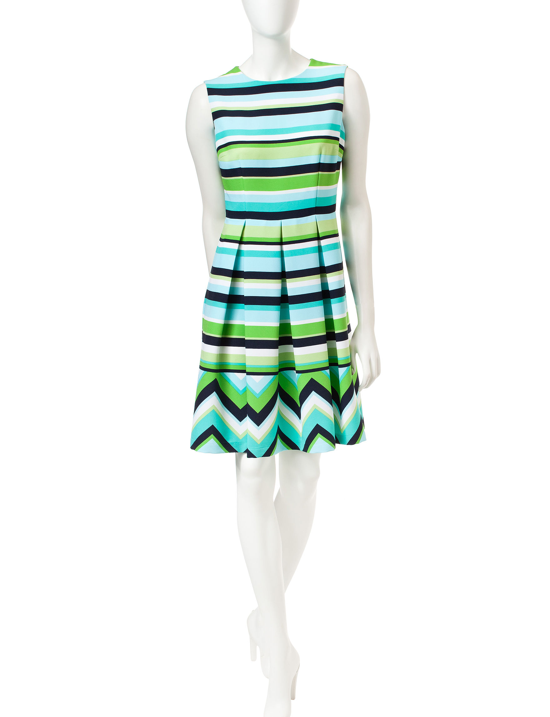 Sandra Darren Blue A-line Dresses