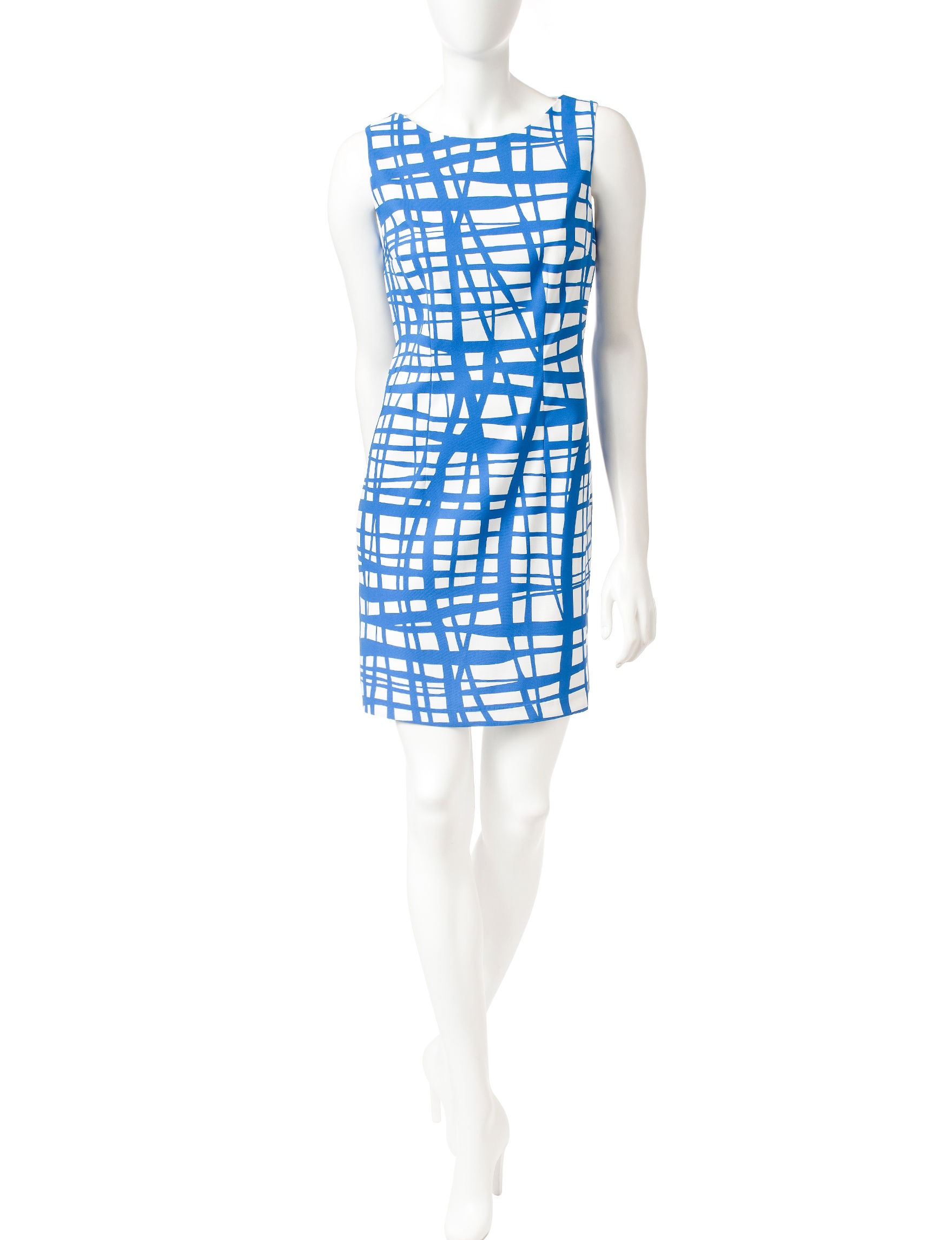 A. Byer Blue / White Everyday & Casual Shift Dresses
