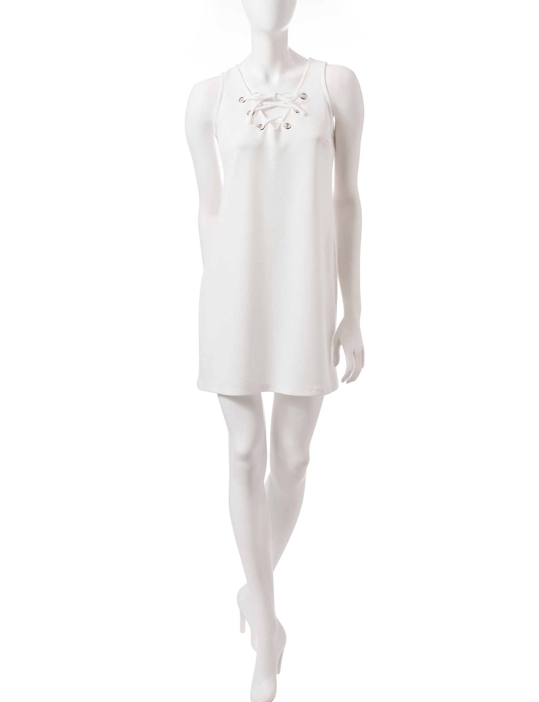 Almost Famous White Everyday & Casual Shift Dresses
