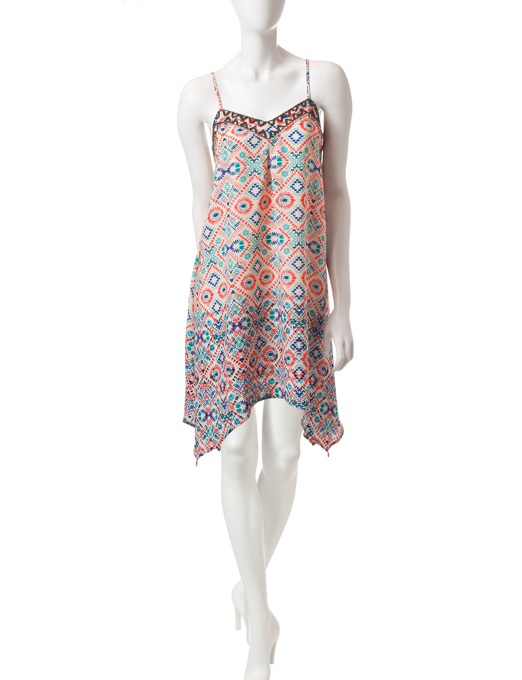 Heart Soul 100-White Shift Dresses