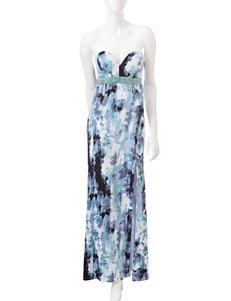Emerald Sundae Strapless Watercolor Dress