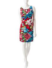 Ronni Nicole Bold Multicolor Floral Print Dress