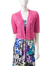 Lennie Solis Color Pink Horizontal Stitched Bolero