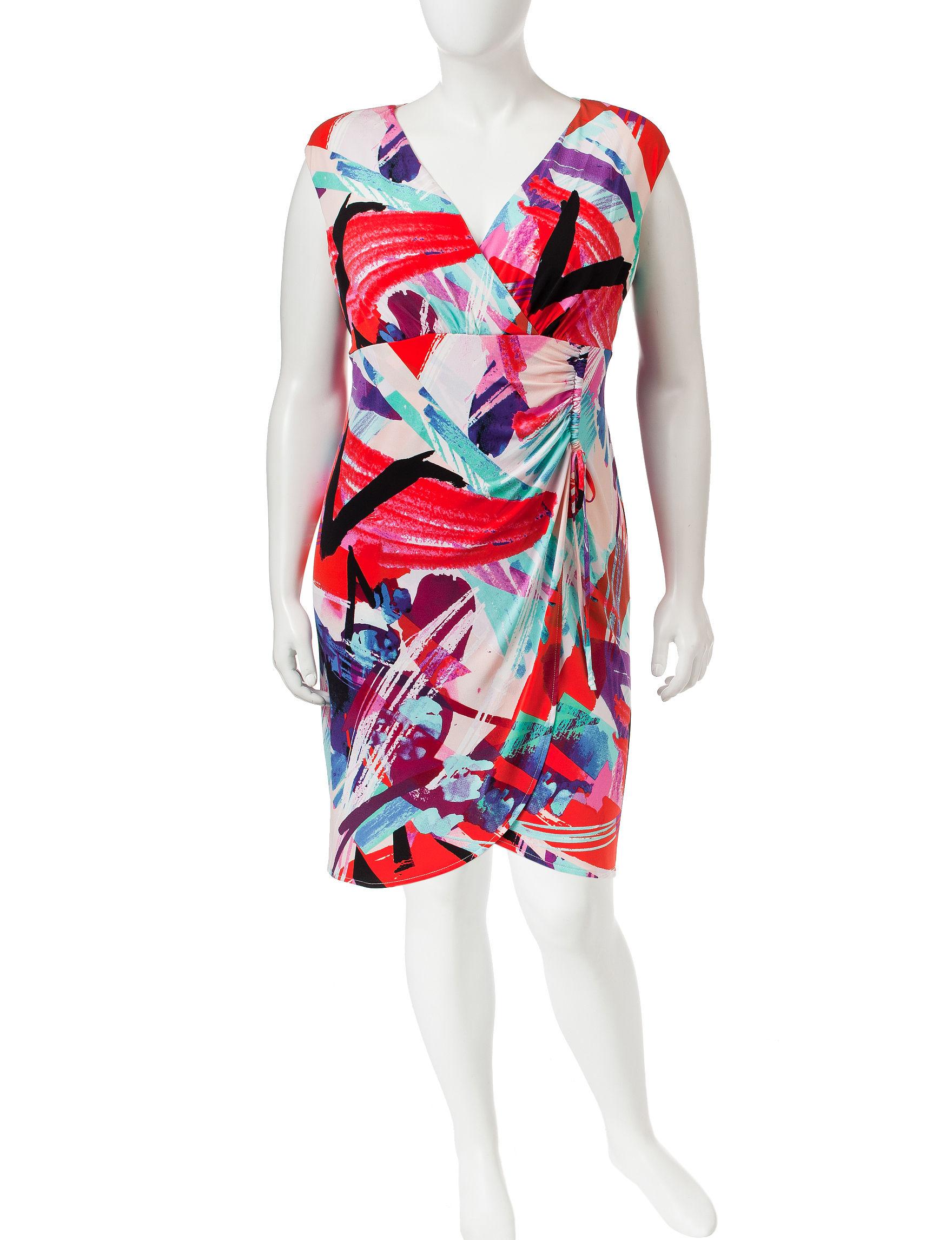 London Times Peach Everyday & Casual Sheath Dresses