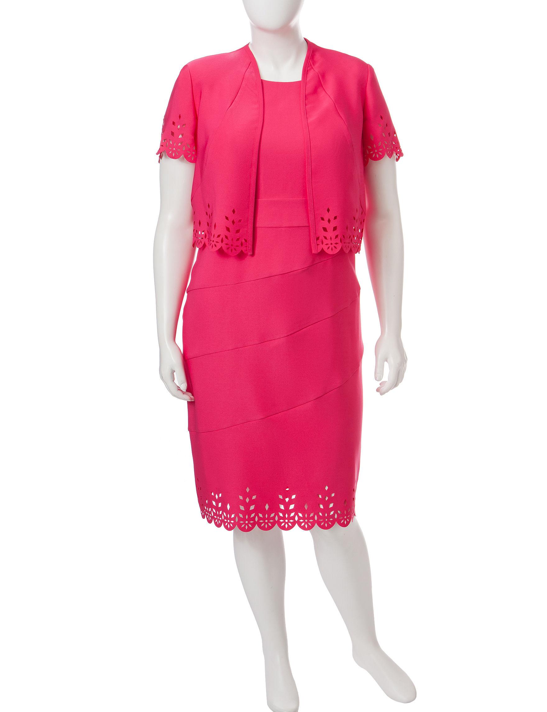 Dana Kay Hot Pink Cocktail & Party Jacket Dresses