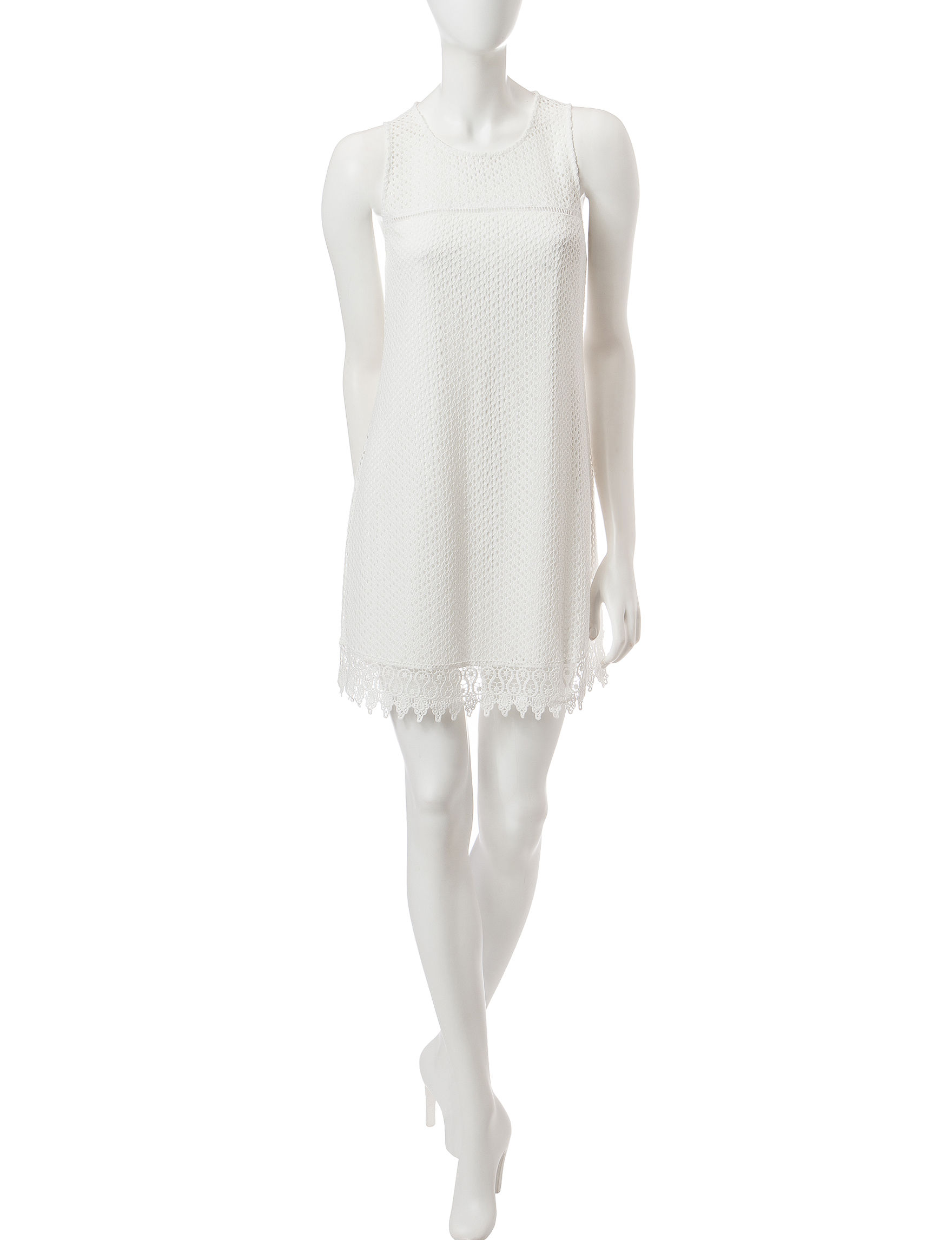 Speechless White Everyday & Casual Shift Dresses