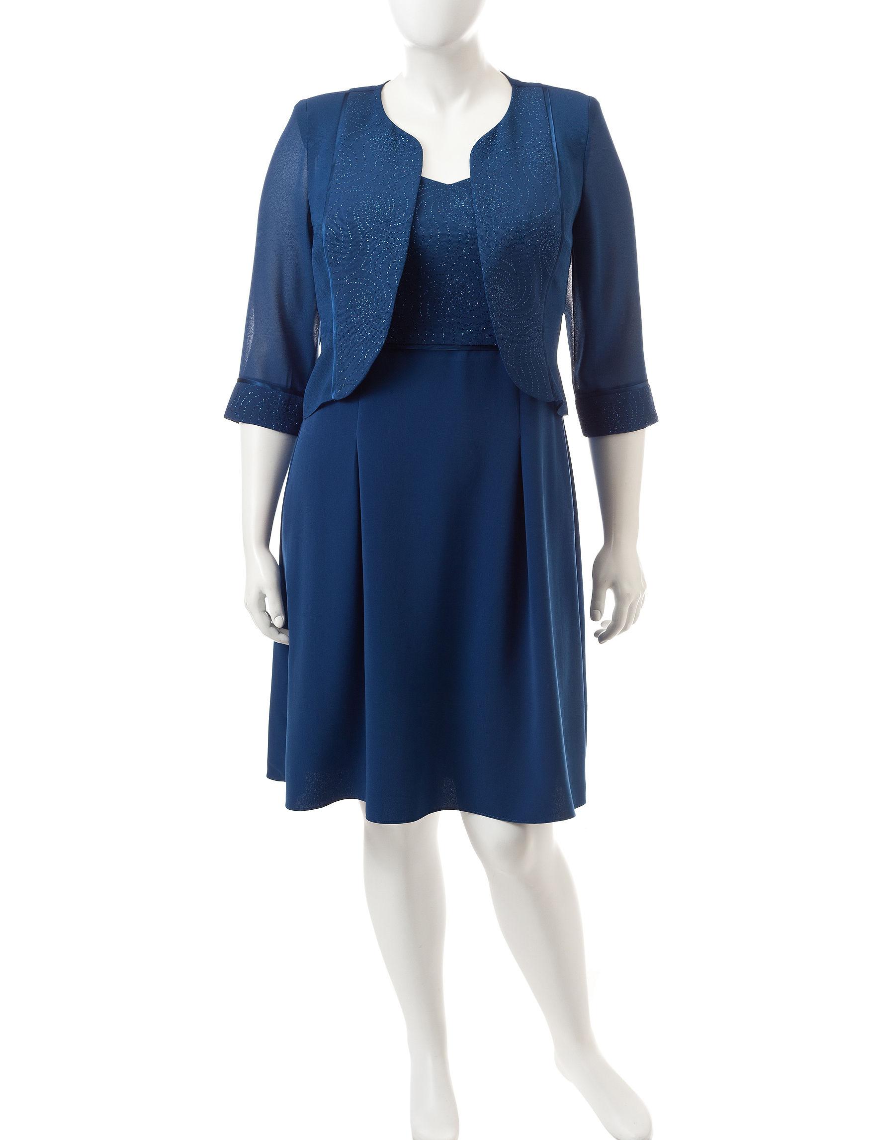 Dana Kay Blue Jacket Dresses