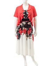 R & M Richards Plus-size 2-pc. Floral Print Jacket & Dress Set