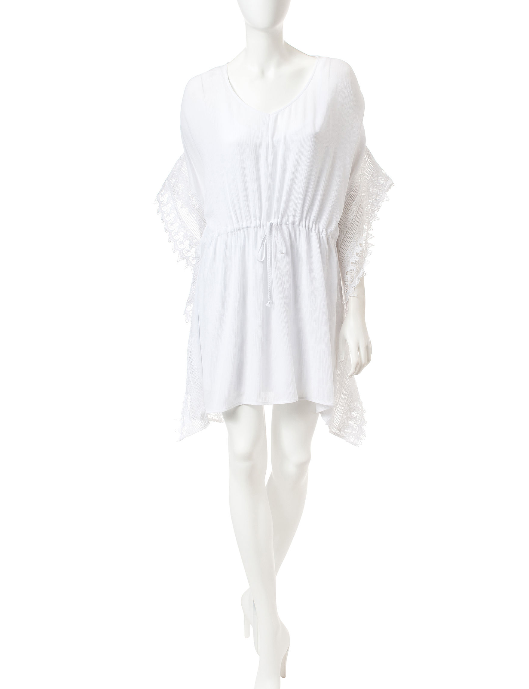 BeBop White Shift Dresses