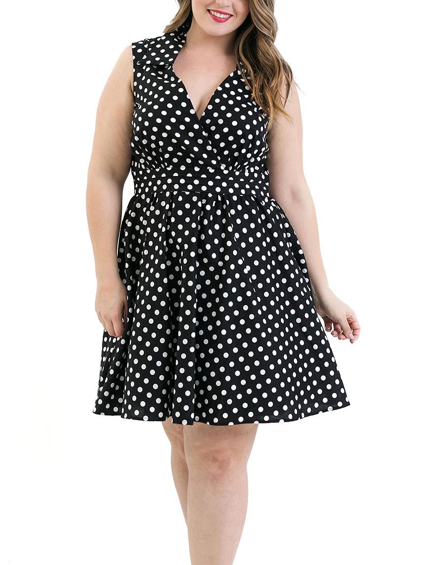 Bailey Blue Black / White Shift Dresses