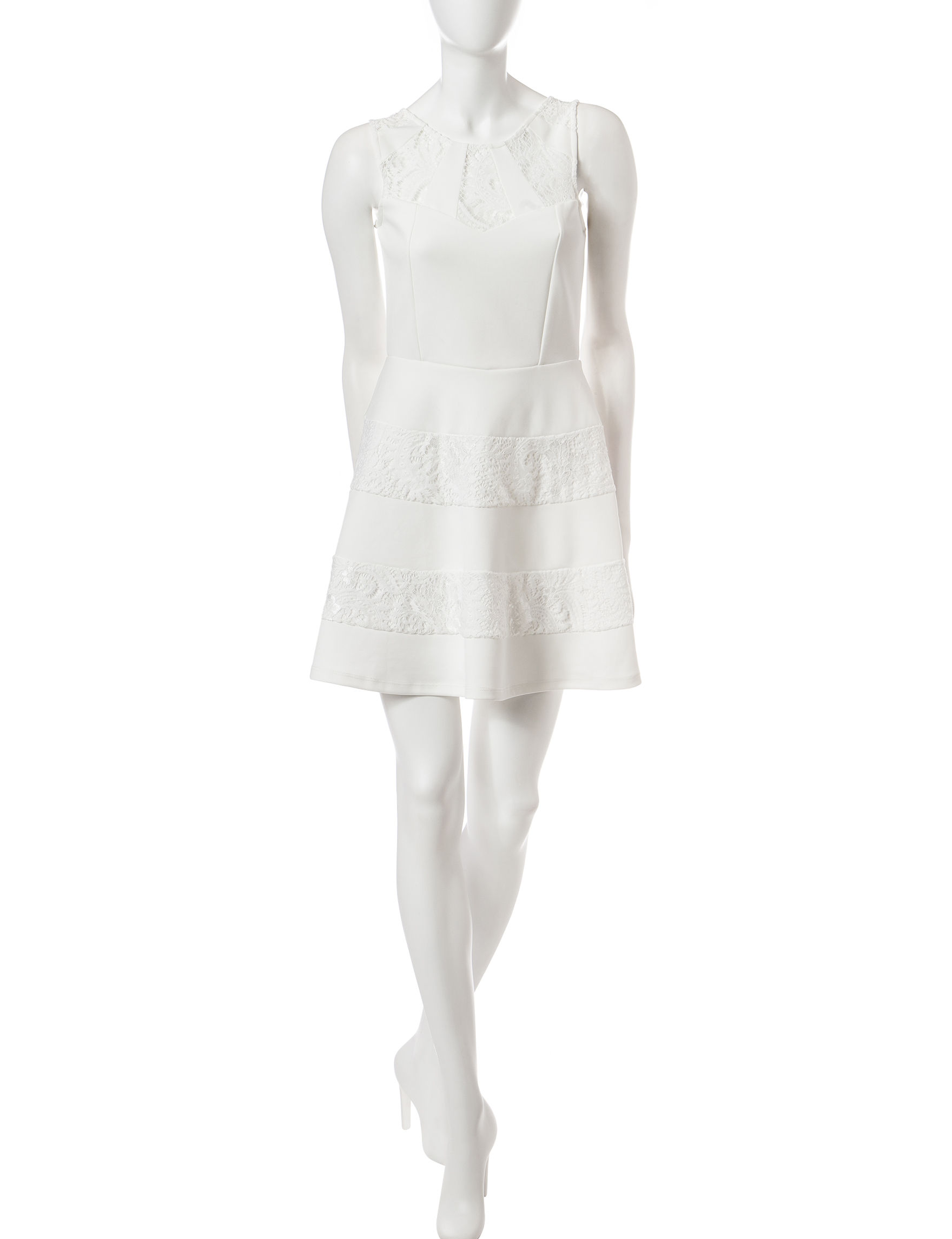 Trixxi White Shift Dresses