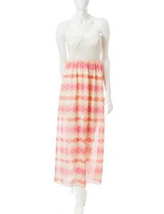 Trixxi Ivory Crochet Maxi Dress