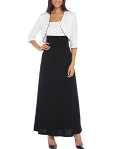 R & M Richards 2-pc. White Sequin Jacket & Dress