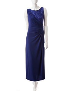 R & M Richards Royal Blue Cocktail & Party Evening & Formal Strapless