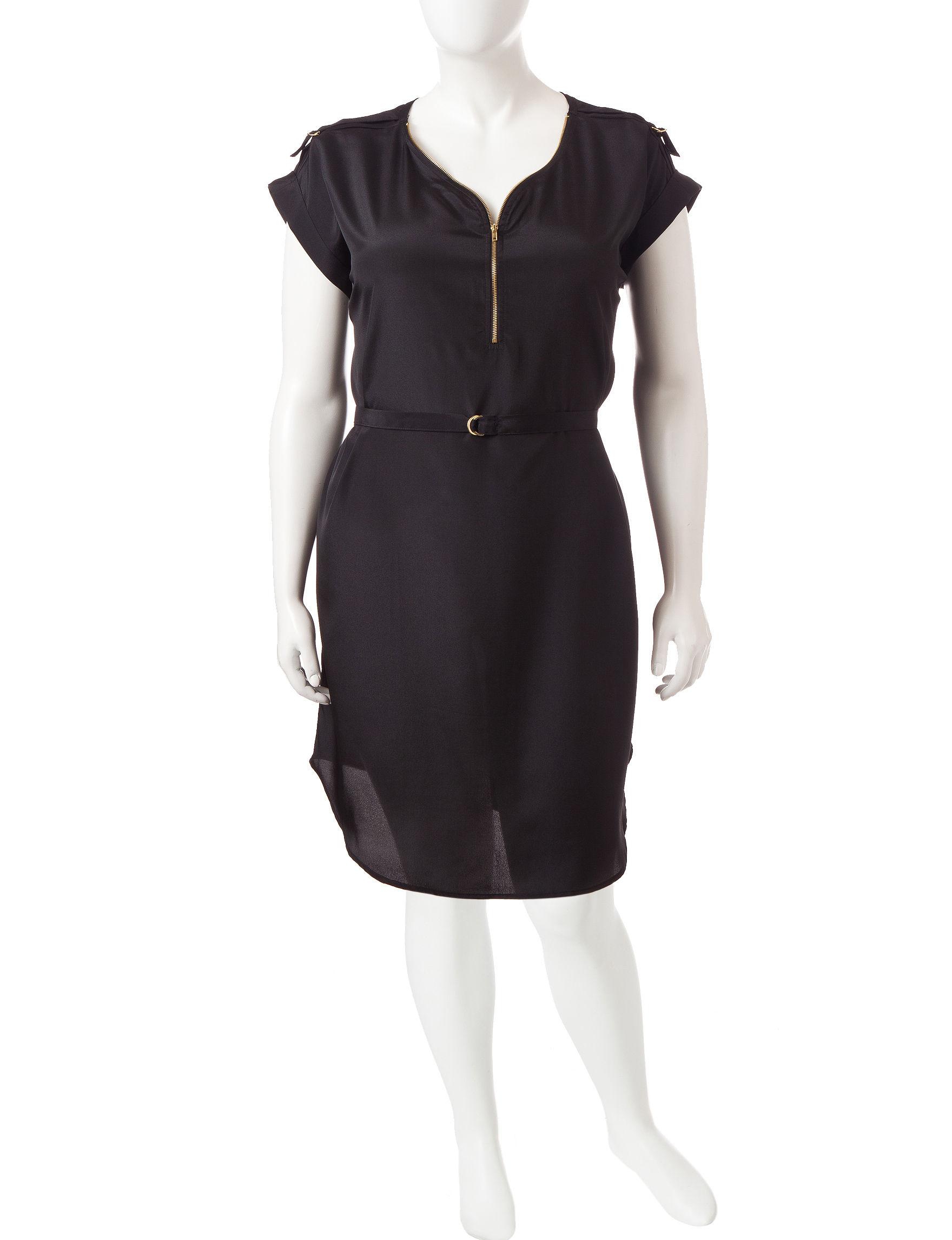 Almost Famous Black Shift Dresses