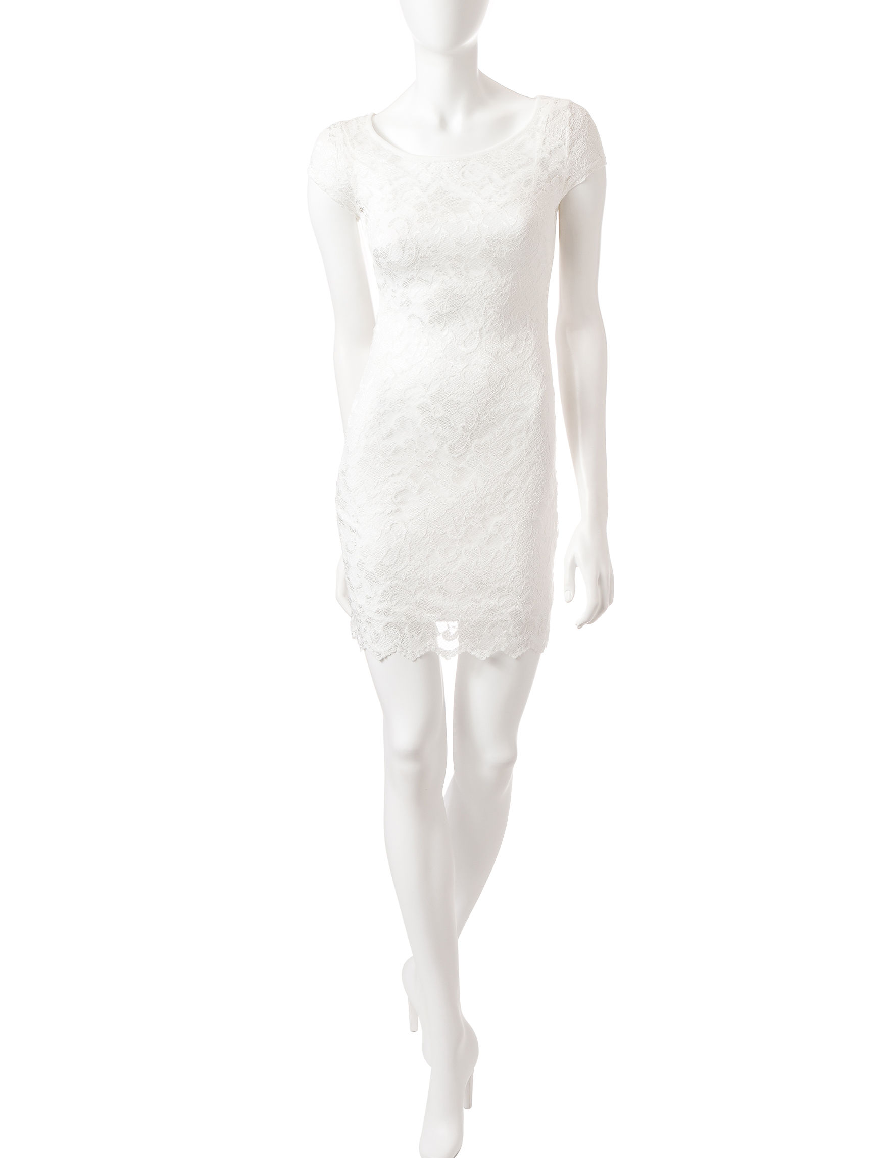 Almost Famous Ivory Sheath Dresses
