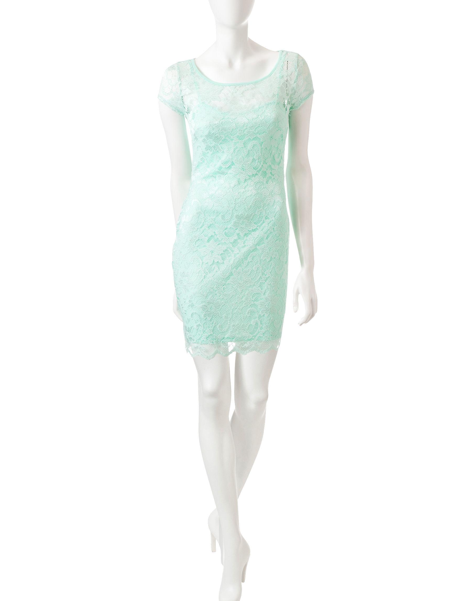 Almost Famous Mint Sheath Dresses