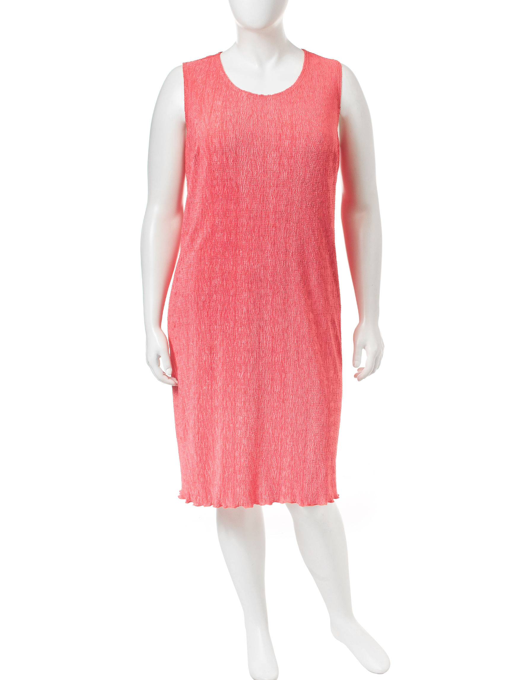 Connected Salmon Everyday & Casual Sheath Dresses