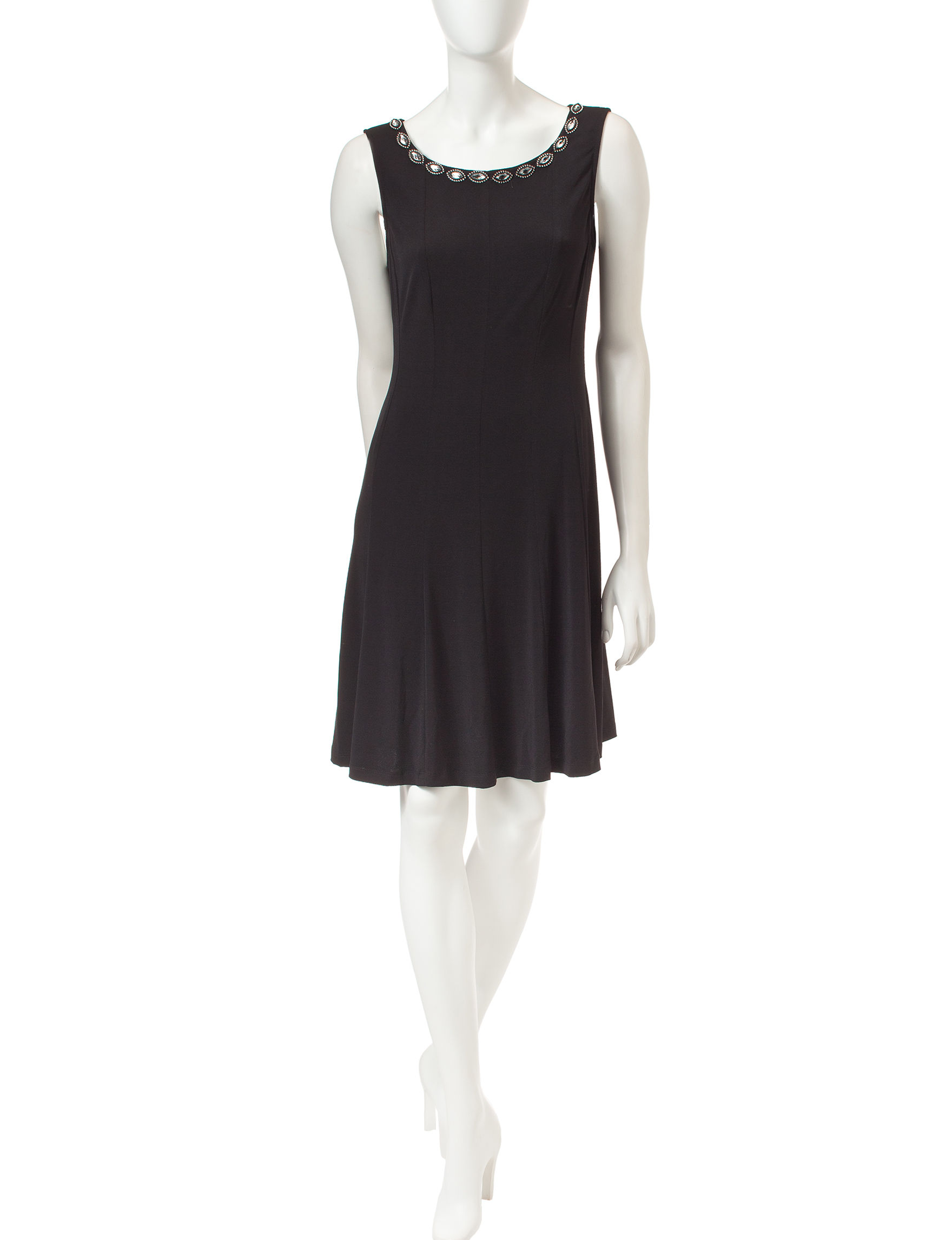 Connected Black A-line Dresses