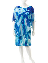 Studio 1 Plus-size Multicolor Caplet Dress
